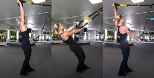 The X -Can be done with a cable machine or a suspension trainer